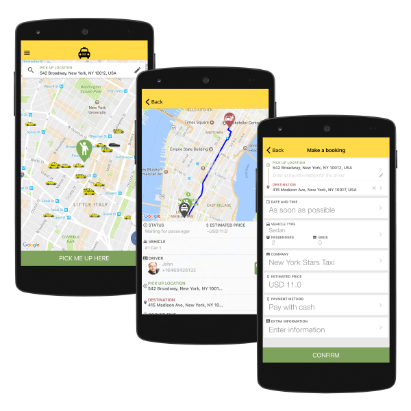Quick Guide Passenger App TaxiCaller - Table booking app