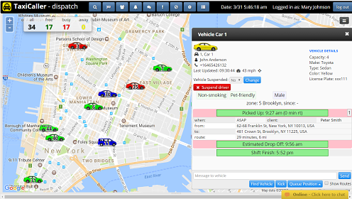Dispatch console track your drivers