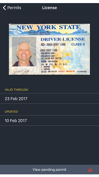 Driver app license and permit documents